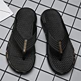 HLDETH Zapatillas de hombre para uso exterior, sandalias de suela blanda para la playa de verano al aire libre, chanclas antideslizantes y desodorantes (Color : A, Size : 41)