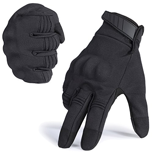 WTACTFUL Winter Windproof Warmer Touch Screen Full Finger Gloves for Cycling Motorcycle Motorbike Skiing Snowboard Camping Climbing Bike Riding Racing Bicycle Work Outdoor Gloves Black Medium