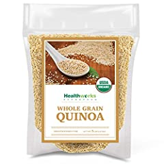 PREMIUM RAW, ORGANIC QUINOA: Healthworks Quinoa is certified organic and all-natural! Quinoa is a fiber-rich grain crop that is grown for its edible seeds. This protein-packed grain is as versatile as rice and tastes delicious on its own or in a vari...