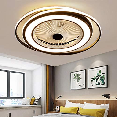 50W LED De La Lámpara Del Ventilador De Techo Tranquila Luz De Techo Con Mando A Distancia Para Lámpara Regulable Para El Dormitorio Que Viven Vivero Sala De Oficina Puede Bajo Ruido Sincronización