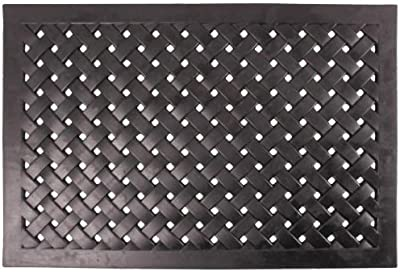 Esschert Design Rubber Braided Rectangular Doormat