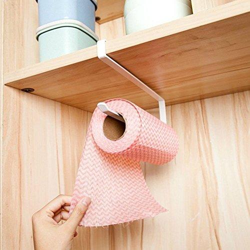 CNFQ Küchenrollenhalter zur Anbringung unter einem Schrank, Papierrolle, ohne Bohren, für Küche, Badezimmer