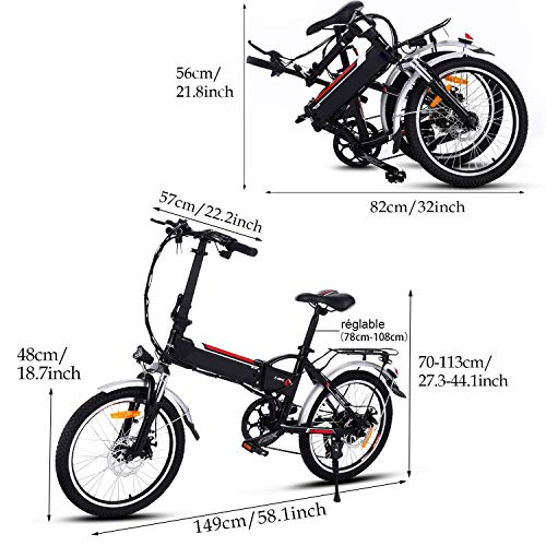 Speedrid Vélo électrique, vélo de Ville électrique 20/26 VTT électrique pour Adultes avec Moteur Haute Vitesse 250W et Batterie au Lithium 36V 8/12.5Ah, système de Transmission Professionnel