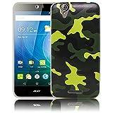 thematys Passend für Acer Liquid Z630 Camouflage Silikon Schutz-Hülle weiche Tasche Cover Case Bumper Etui Flip Smartphone Handy Backcover Schutzhülle Handyhülle