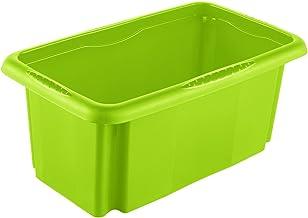 keeeper Pudełko do przechowywania z systemem obrotowym/układanym, 35 x 20,5 x 15 cm, 7 l, Emil, zielone
