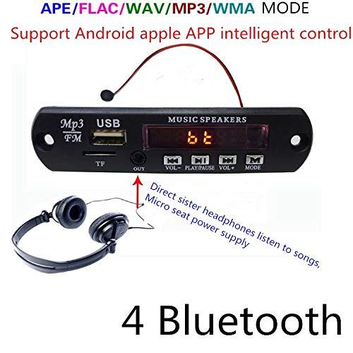 Calvas Bluetooth manos libres estéreo APE, FLAC, WAV MP3 Audio decodificador Board, auriculares puede escuchar música, soporte teléfono inteligente aplicación control