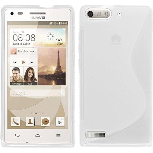 PhoneNatic Custodia Compatibile con Huawei Ascend P7 Mini Cover Trasparente S-Style Ascend P7 Mini...