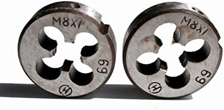 LF&LQEW 2PCS Metric Ronda Dies M8 * 0.5/0.75/1.0/1,25 mm Dies Manual for Manual Threading de Metal de la Pieza DIY Uso (Color : 1.25, tamaño : M8)