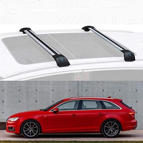 Mmhot Ajuste a Medida for Audi A4 Avant aleación de Aluminio de Barras de Techo de la Barra Cruzada del Techo de Carga Bares Compatible con A4 Avant 2013-18 (Size : For Audi A4 Avant 2018)