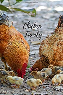 Chicken Family: Notebook with Animals for Kids, Notebook for Coloring Drawing and Writing (Realistic Colors, 110 Pages, Unlined, 6 x 9)(Animal Glossy Notebook)