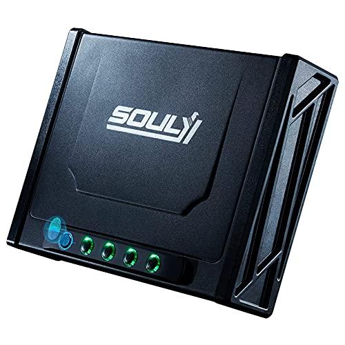 SOULYI Biometric Gun Safe for 4 Pistols...