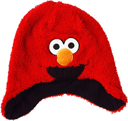 Kinder – Sesamstraße Elmo Fleece Winter Hat, Rot