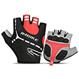 INBIKE Men's Gel Cycling Gloves Reflective Half Finger Bicycle Glove...