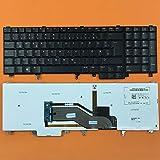 kompatibel mit DELL Precision M6700, M4800 Tastatur - Farbe: schwarz - mit Hintergrundbeleuchtung, mit Maus-Stick - Deutsches Tastaturlayout