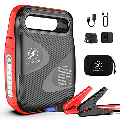 Amazing Deal Car Jump Starter, FLYLINKTECH 2500A Peak 24000mAh Powerful Portable Auto Battery Starte...