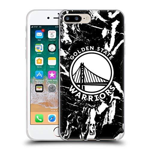 Head Case Designs Licenciado Oficialmente NBA Mármol 2019/20 Golden State Warriors Carcasa de Gel de Silicona Compatible con Apple iPhone 7 Plus/iPhone 8 Plus