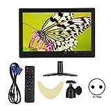 Monitor de Computadora LCD con Pantalla Panorámica HD 1080P de 10.1 Pulgadas, con Entrada HDMI/VGA/BNC/AV (100-240V)(EU Plug)
