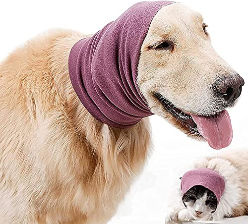 Dog Ear Muffs Noise Protection Quiet Ears for Dogs Dog Stress and Anxiety Relief Hood Calming Dogs and Cats Pet Ears Protector for Grooming and Bathing Drying (S)