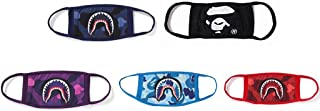 Xshelley 5-pack 4 Shark Face Mask and 1 Face Mask,cotty mask funny Anti-dust Face mask,Ski Cycling Camping Half Face Mouth Masks