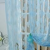 1 pc 200 cm x 100 cm seguryy mariposa cortina de ventana borla de cortina del divisor de la bufanda