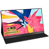 UPERFECT 4K Computer Monitor, 15.6' IPS UHD 3840X2160 USB C Monitor[100% sRGB Wide Color Gamut], HDR FreeSync Dual Speaker OTG Type-C VESA for Laptop PC Phone, Stand Smart Case Screen Protector