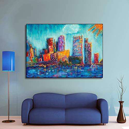 N / A Rahmenlose Malerei Wohnzimmerplakate und farbenfrohe Dekoration auf LeinwandZGQ8348 30x45cm