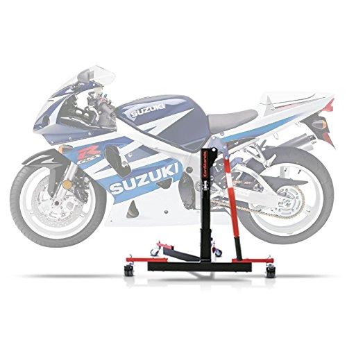 ConStands Power Evo-Zentralständer Kompatibel für Suzuki GSX-R 750 00-03 Rot Motorrad Aufbockständer Montageständer Heber