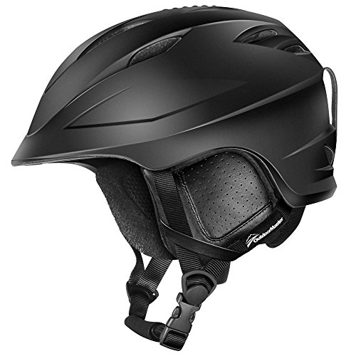 OutdoorMaster Ski Helmet PRO - with Airflow Climate Control & Adjustable Fit - for Men & Women (Black,M)