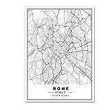Leinwandbilder Bild,Wandkunst Auf Leinwand, Rom Stadtpläne