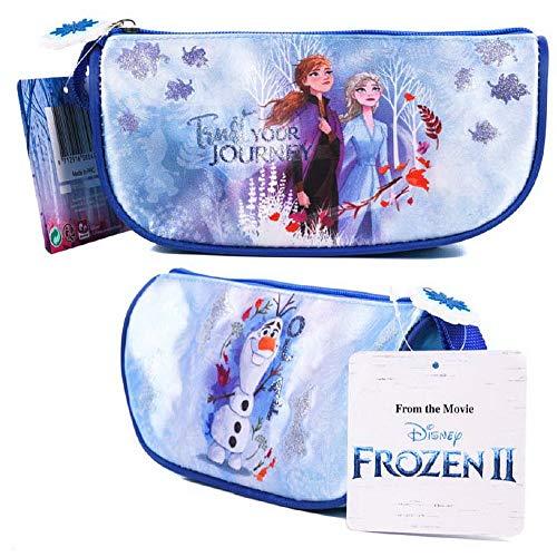 Disney Frozen 2 Anna Elsa Olaf Deluxe - Estuche para lápices con purpurina