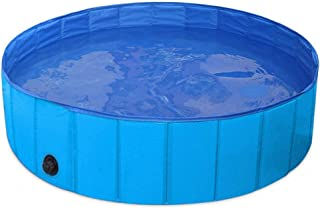Family Swimming Pool Dog Paddling Pool,Durable Dog Bathtub, eco-Friendly pet Swimming Pool-Green_M,Portable Anti-Slip Padd...