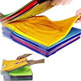 Nifogo Camiseta Carpeta - Armario Organizador Ropa,Organizador de Armario - Antihumedad y Antiarrugas,Closet Organizer Ropa/Camiseta Ropa Interior (60PCS)
