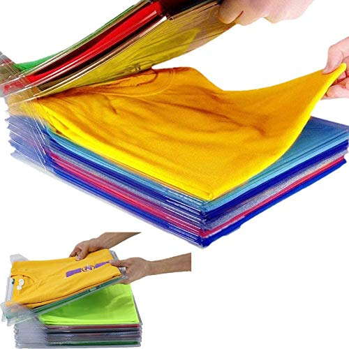 Closet Organizer and Shirt Folder - Kleiderschrank Organizer T-Shirt, robustem, recycelbarem, Anti-Feuchtigkeit und Anti-Falten. Für T-Shirts und Hemden in Schränken, Schubladen, Regalen (60PCS)