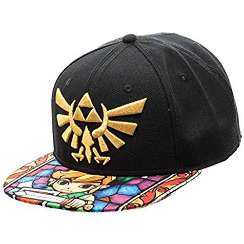 Nintendo Zelda- Stained Glass Sublimated Snapback Hat Size ONE Size