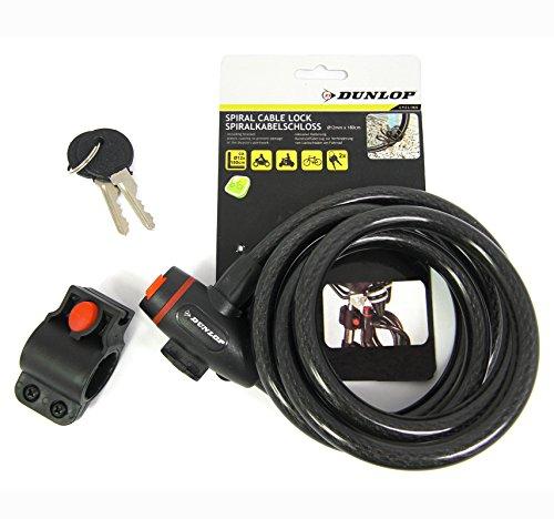 Dunlop Vehicle 871125256376 Spiralschloss Mehrfarbig, 12 x 1800 mm ST