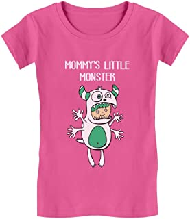 Mommy's Little Monster Children's Cute Toddler/Kids Girls' Fitted T-Shirt