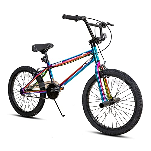 JOYSTAR Gemsbok 20 Inch Kids Bike Freestyle BMX Style for Youth and Beginner Level to Advanced Riders 20' Wheels Juvenile Bicycles Dual Hand Brakes Steel Frame Oil Slick
