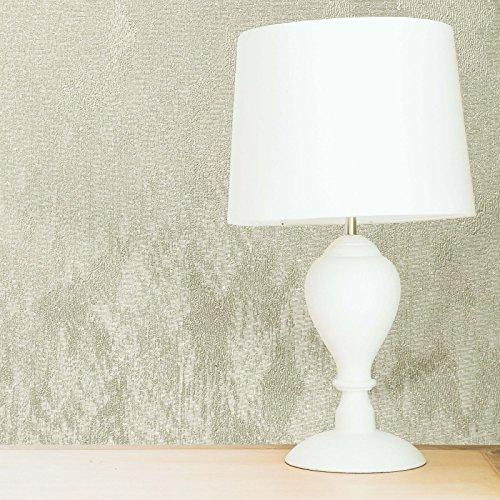 Crown Wallcoverings Alexis Texture M1385 behang, ivoorkleurig, vinyl met glitter