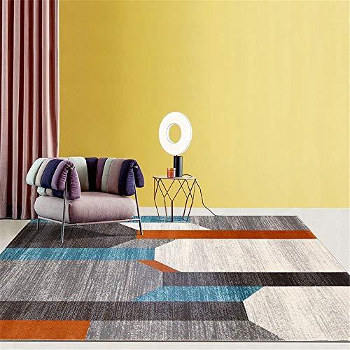 N/Z Haushaltsgeräte Großer Teppich Wohnzimmer Sofa Couchtisch Polypropylen Teppich Modernes geometrisches Licht Luxus Abstraktes Schlafzimmer für Wohnzimmer (Farbe: Mehrfarbig4 Größe: 240x330cm)