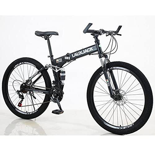 Faltendes Mountainbike, Weiche Schwanz Doppelschockabsorption, Mountainbike, Outdoor Camping-Schwarz_21. Geschwindigkeitelektrofahrrad Für Erwachsene