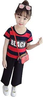上下2点セット 女の子 キッズ 半袖 tシャツ ワイドパンツ