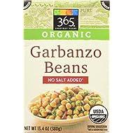 365 Everyday Value Organic Garbanzo Bean No Salt Added, 12.2 oz