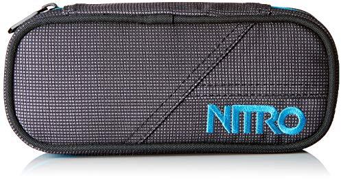 Nitro Pencil Case, Federmäppchen, Schlampermäppchen, Faulenzer Box, Federmappe, Stifte Etui, Blur Blue-Trims