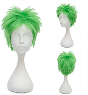 NiceLisa Masquerade Evening Party Cosplay Wig Short Grass Green Male Boy Anime Role Play Wigs