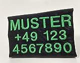 Wuffwelt Namensschild Telefonschild abnehmbar passend für anny-x Geschirr