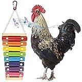 Rich-home Vogel Papagei Spielzeug, Huhn Xylophon Spielzeug Musikinstrumente Holz Huhn Picken Spielzeug Kauspielzeug für Hühner Vogel Papagei