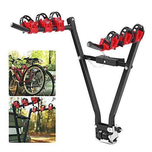 Cikonielf Folding Rear Bicycle Rack, Steel Bike Rack, Designed for Vehicles, Load 60 kg