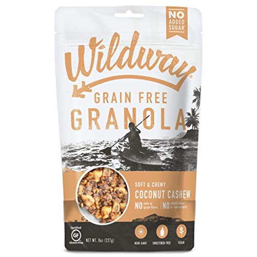 Wildway Keto, Vegan Granola | Coconut Cashew | Certified Gluten Free Granola Breakfast Cereal, Low Carb Snack | Paleo, Grain Free, Non GMO, No Added Sugar | 8oz, 6 pack