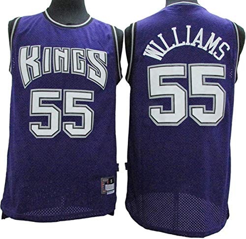 BPZ NBA Men's Jersey, Jason Williams 55# Sacramento Kings Basketball Jerseys, NBA Basketball Jersey Cómoda Ropa Deportiva Camiseta,1,L(175~180CM/75~85KG)