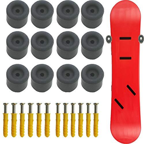 AUXPhome Pack de 12 soportes para esquís y snowboard, para guardar esquís, soporte vertical horizontal, para montaje en pared, capacidad para 6 tablas
